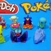 Play Doh Surprise Eggs Pokemon Set Mini Action Figure