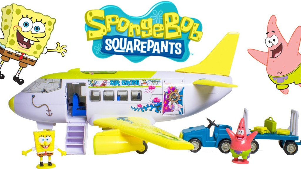 Spongebob Plane with Figures and Accessories