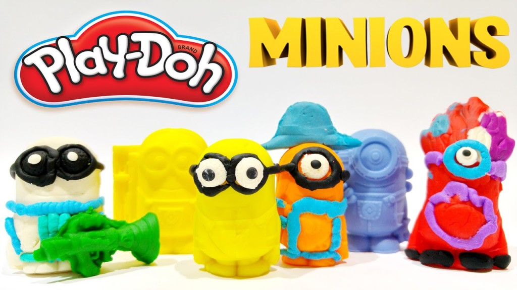 Play Doh Minions Despicable Me 2 Heart Surprise Mini Figures Toys Video