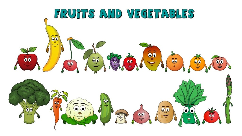 Learn Names of Fruits & Vegetables In English
