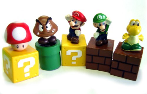 New Super Mario Bros mini figures
