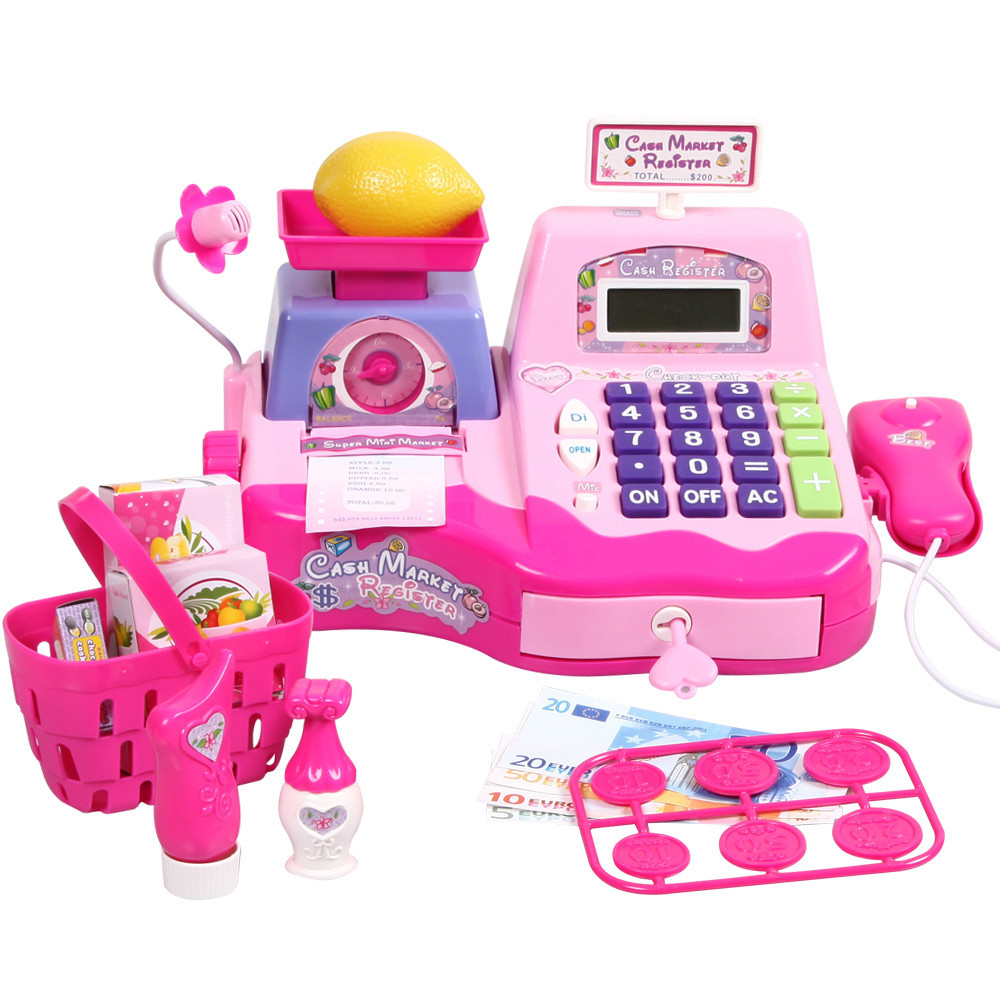 Play Register & Scanner Supermarket Cash Toys