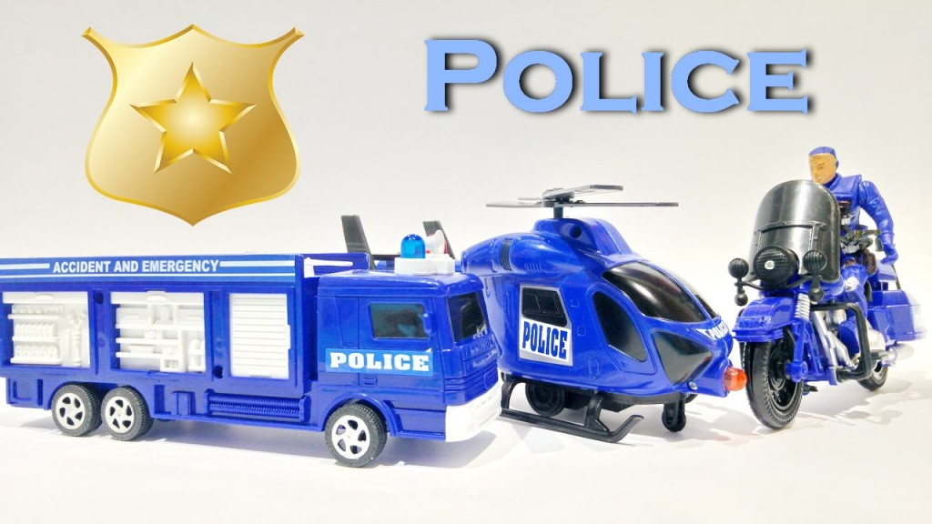 Police Helicopter Rescue Team Building Blocks