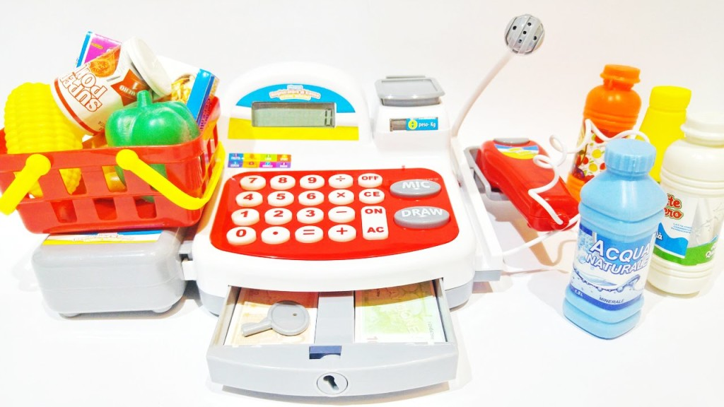 Electronic Cash Register Playset Toy Videos For Kids